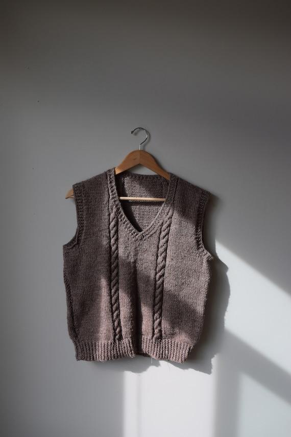 Handknit Walnut Vest