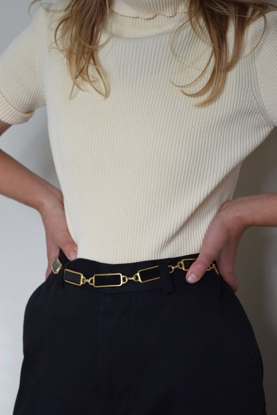 Black & Gold Chainlink Belt