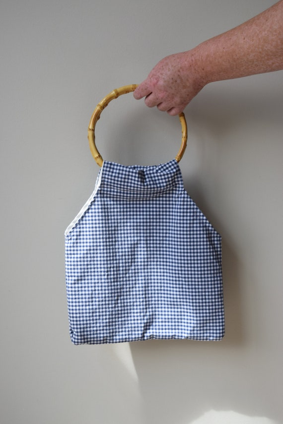 Blue Gingham Hand Bag