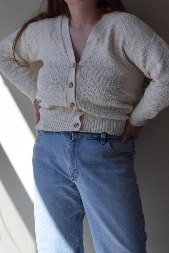Cream Simple Cardigan