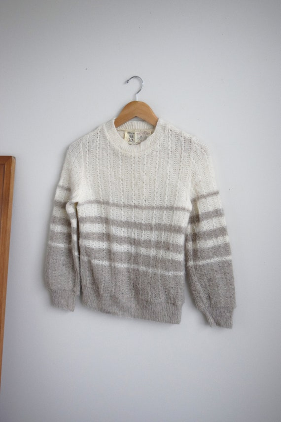 Icelandic Wool Striped Jumper