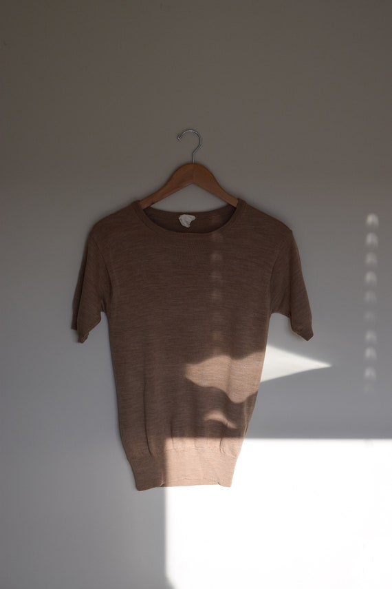 Walnut Wool Tee