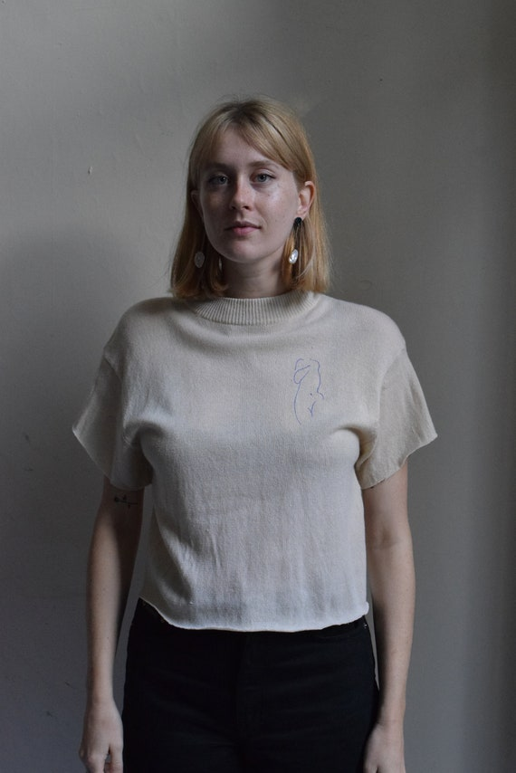 Audrey Wool Mock Neck Tee