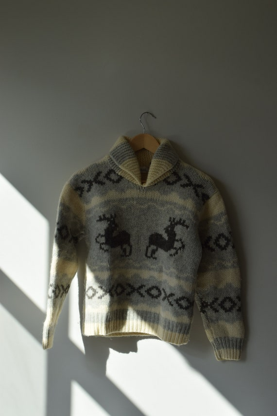 Cropped Cowichan Pull Over