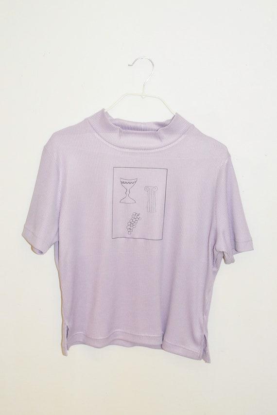 Roma Lavender Mock Neck Tee