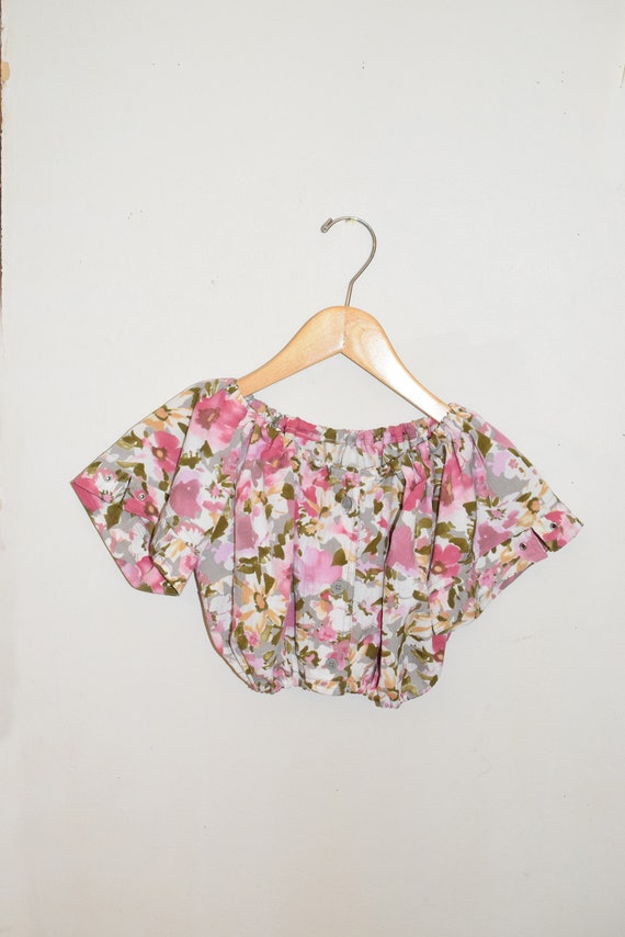 Floral Resew Cropped Top
