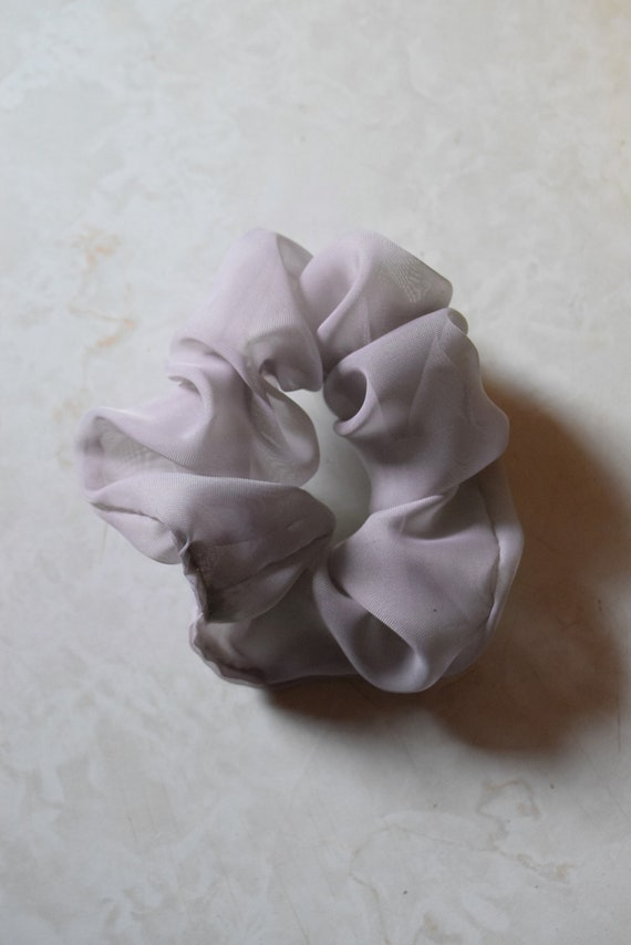 Sheer Lilac Hair Scrunchy
