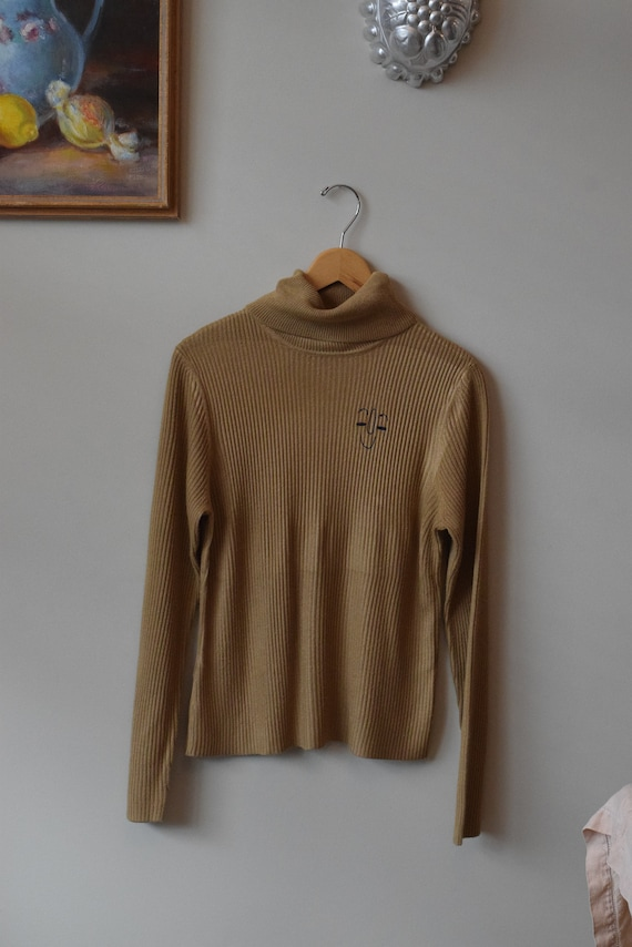 Pippa Camel Turtleneck Long Sleeve Tee