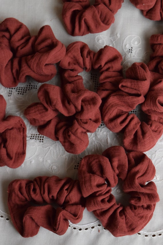 Brick Waffle Cotton Hair Scrunchies