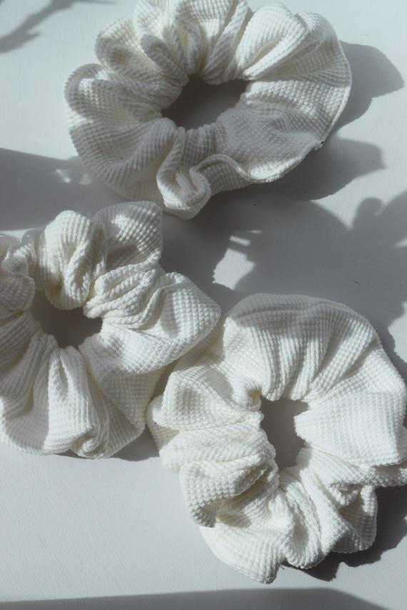 Waffle Knit Hair Scrunchies
