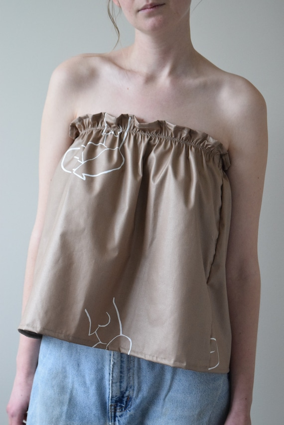 Moira Taupe Bandeau Top