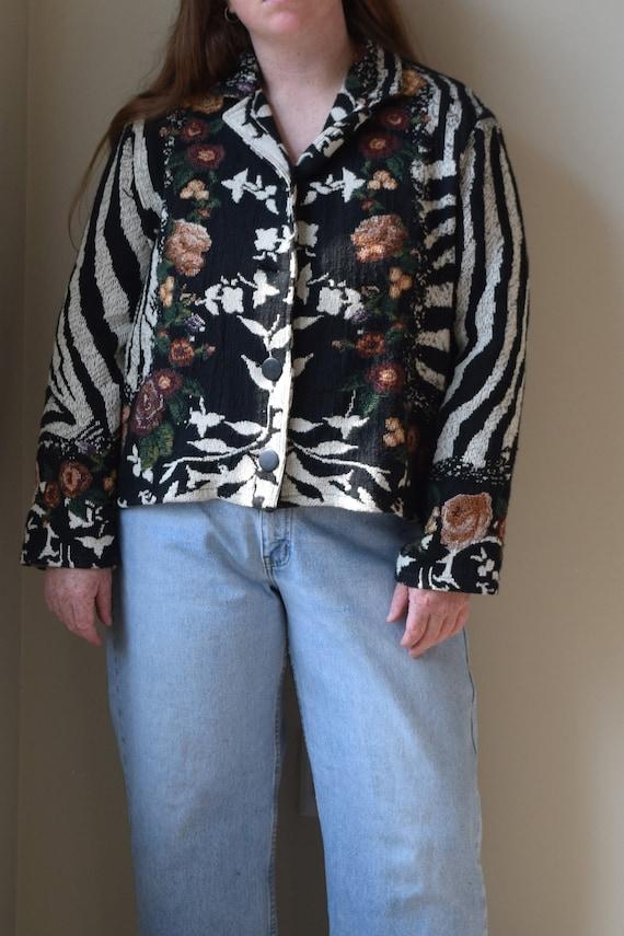 Blanket Floral Chore Jacket