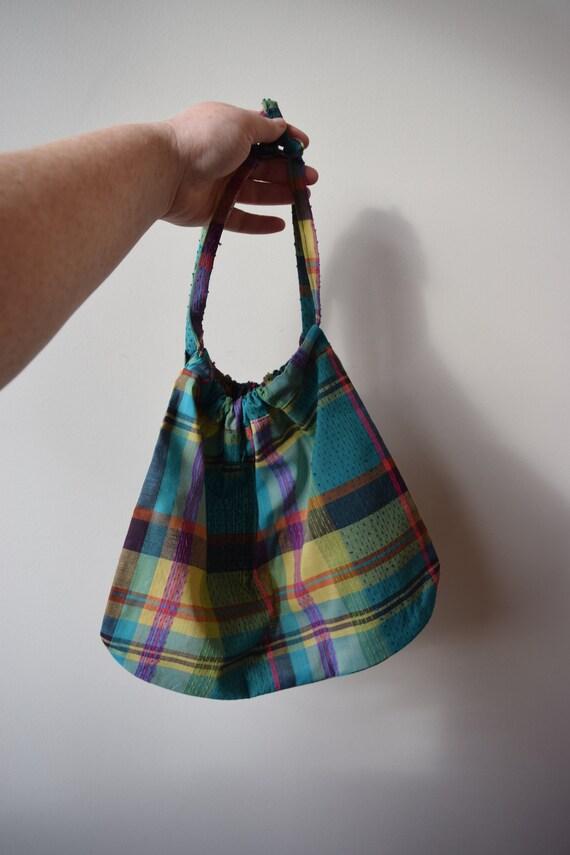 Plaid Drawstring Produce Bag