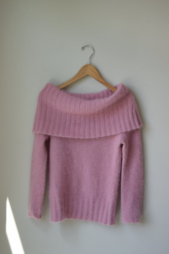 Petal Angora Cowl Neck Sweater