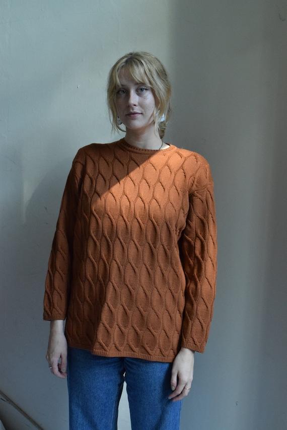 Ochre Knit Wool Sweater