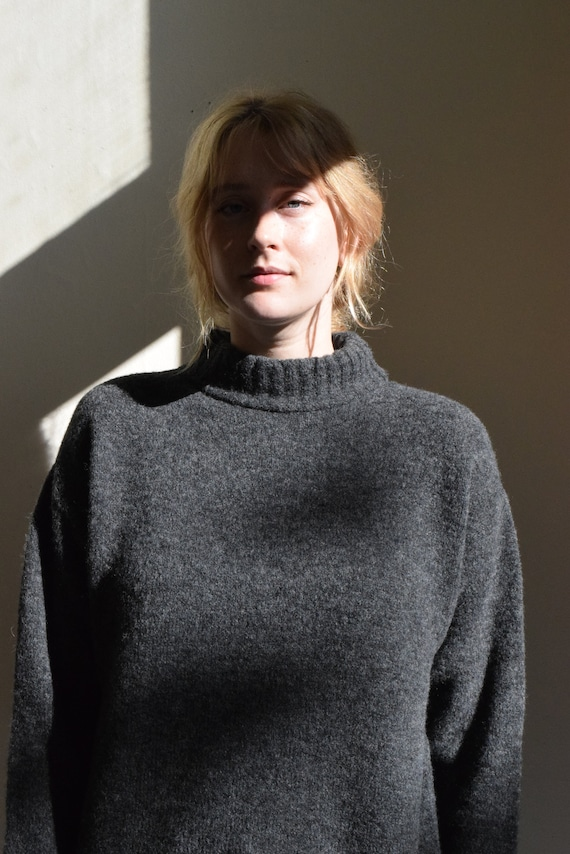 Charcoal Mock Neck Sweater