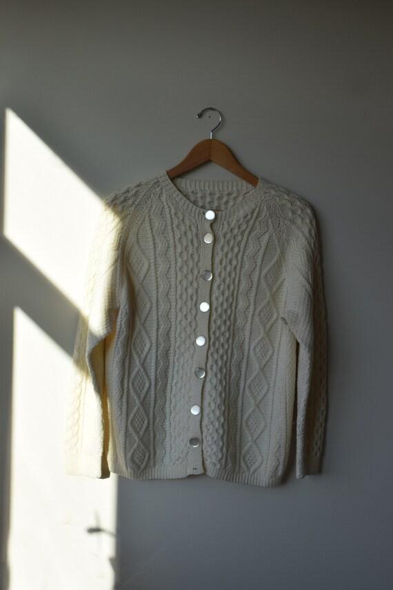 Cream Handknit Cardigan