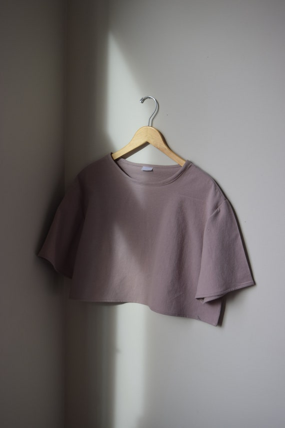 Chai Cotton Cropped Tee