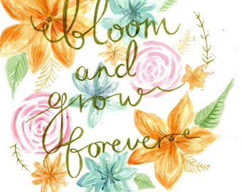 Edelweiss Bloom and Grow Forever- Sound of Music Print Printable Download