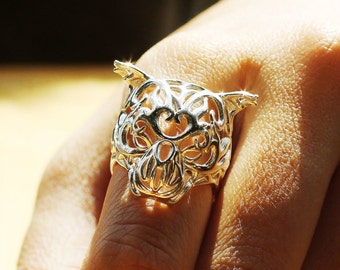 Zodiac Tiger Ring, Chinese Astrology, Chinese Zodiac Ring, Macan Ring, 老虎戒指