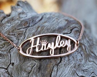 Silver Custom Name Bracelet, unique birthday gift