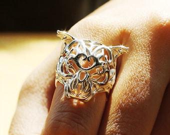 Zodiac Tiger Ring, Chinese Astrology, Chinese Zodiac Ring, Macan Ring, 老虎戒指