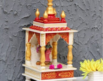 Items Similar To Wooden Small Temple Handcrafted Hindu Hanging