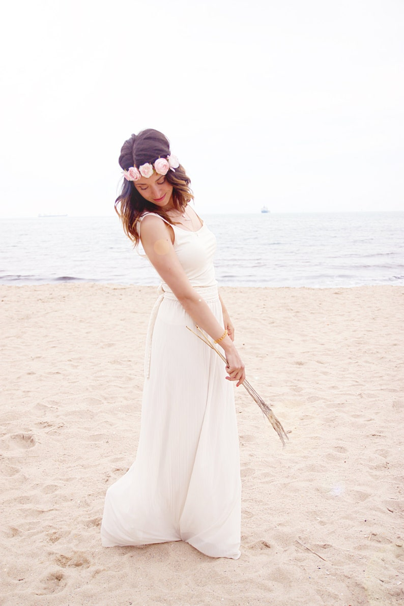 Eenvoudige bruidsjurk De huwelijkskleding van het strand image 1