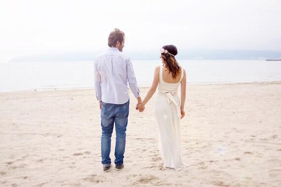 Simple Bridal Dress Beach Wedding Dress Boho Wedding Gown