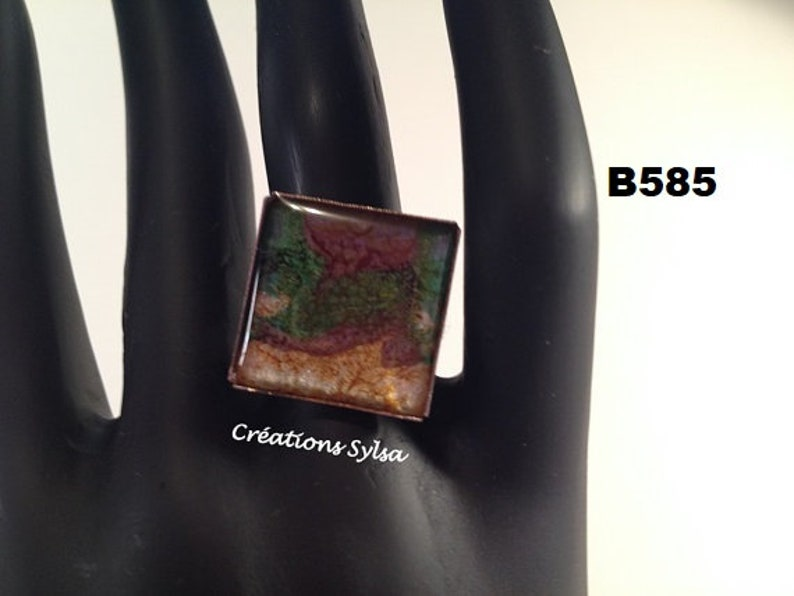 10 Square Rings hand-painted red and black adjustables B397-686 Me Nickel free rings yellow and black Pink Salmon rings,Fashion rings