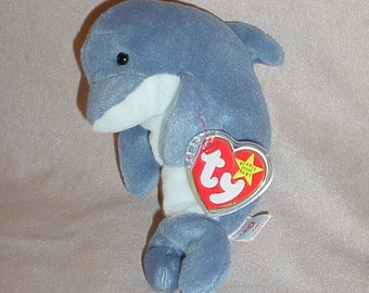 bfcccd8ccd9 Ty Beanie Baby Echo the Dolphin 1990s Plushie