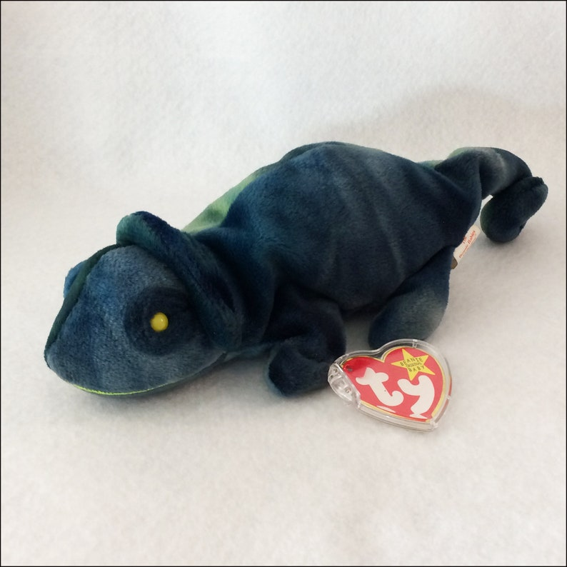 31f7348baff Ty Beanie Baby Rainbow the Chameleon with Tag Error 1990s