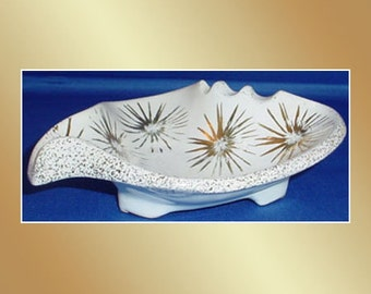 Vintage USA Ashtray Starburst Gold Atomic
