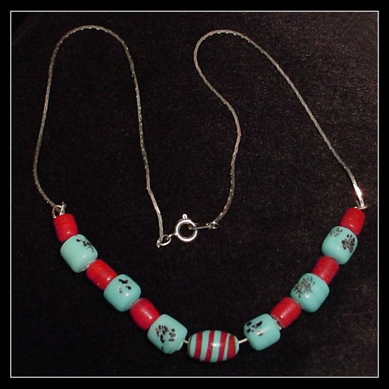 Vintage Porcelain Trade Bead Necklace
