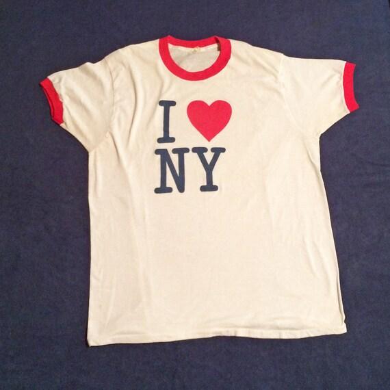I Love NY 1980s T-Shirt XL