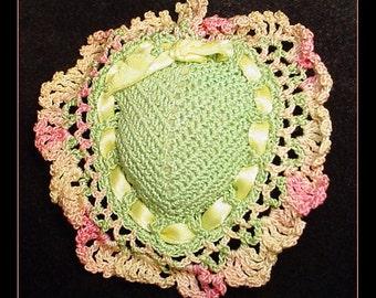 Hand Crocheted Pin Cushion Heart 1940s