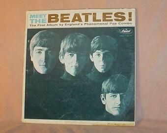 Meet The Beatles 1964 LP Album Capitol T2047 Recorded in England