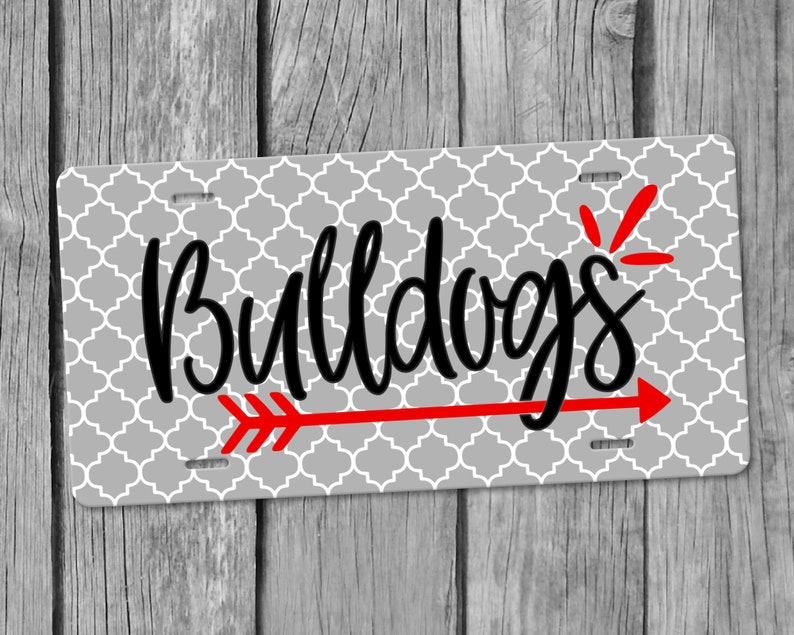 Bulldoggen Auto Tag Edel Auto Tag Neues Auto Geschenk Etsy