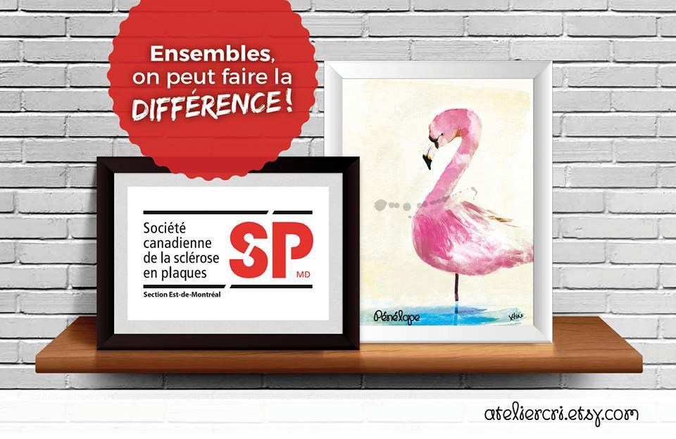 affiche peinture flamant rose flamingo don 2 dollars etsy. Black Bedroom Furniture Sets. Home Design Ideas