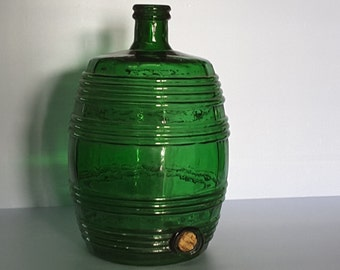 Antique  demijohn - special carboy - Antique glass barrels