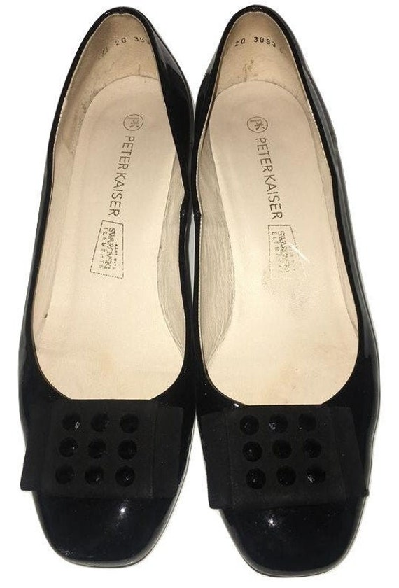 Peter Kaiser Shoes.   Black Ladies Court Shoes