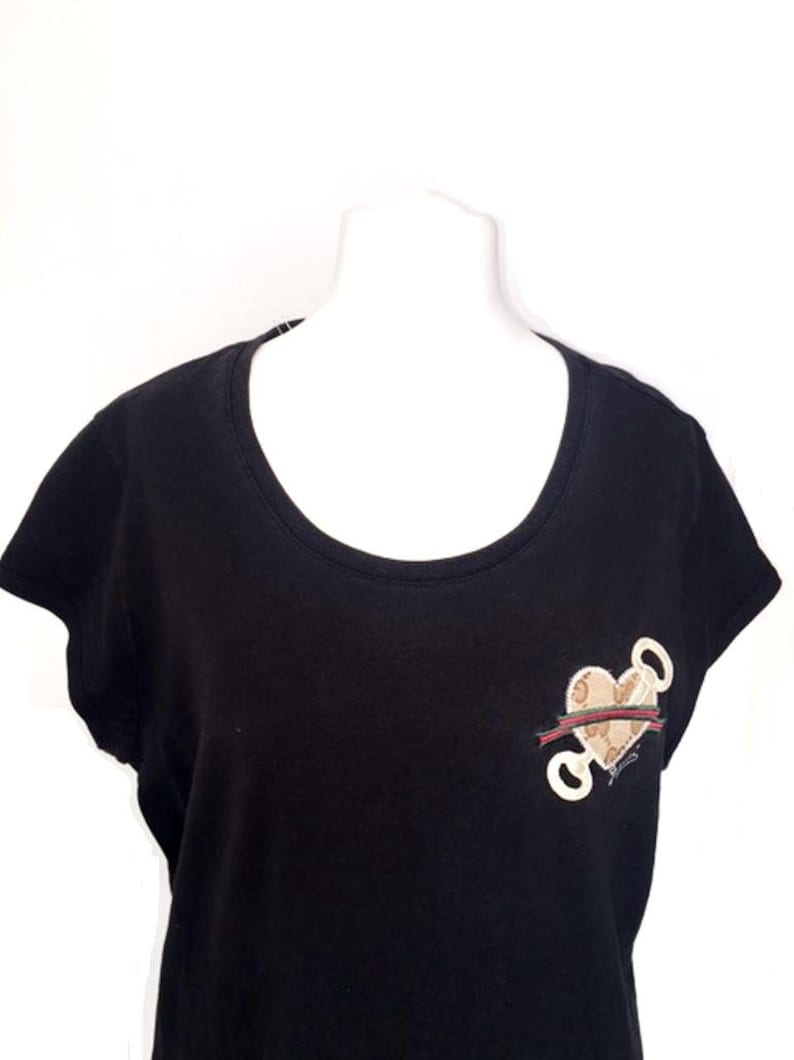 0da36caa GUCCI Web Style Black Shirt Made in Italy L arge UK Size   Etsy