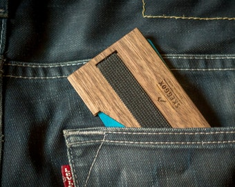 Change your leather wallet in to this RFID blocking WOODEN wallet /RFID money clip / minimalist wallet / slim walet / unique gift for men