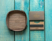 Wooden wallet | Leather tray | Wallet tray | Gift set