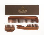 Wooden combs set | Beard comb | Hair comb | Men comb