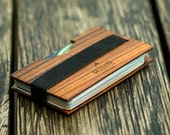 Slim Wallet for men, Personalized wallet, Money clip