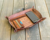 Leather tray | wooden tray | wallet tray