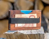 Money clip, Credit card case, Minimalist money clip, Wooden Money Clip, Slim money clip, Men stocking stuffer