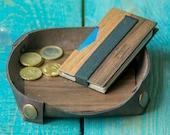 Slim front pocket wallet Personalized Money clip Credit card holder RFID blocking Wallet