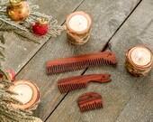Grooming Kit | Grooming set | Christmas gift | Gift for men | Boyfriend gift | Stocking Stuffer for man ideas | Wooden comb | Beard comb